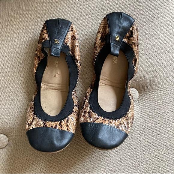Yosi Samra Samantha Snake Print Leather Flats 7